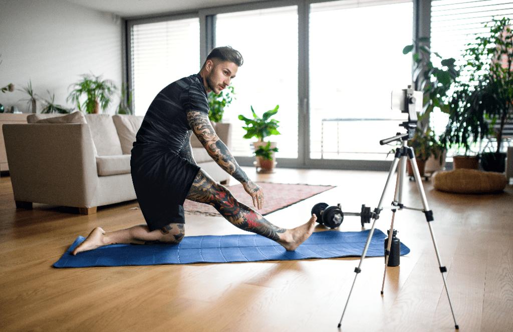 at-home-workout-camera-setup